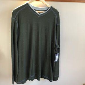 NWT Men's Roundtree & Yorke knit long sleeve shirt